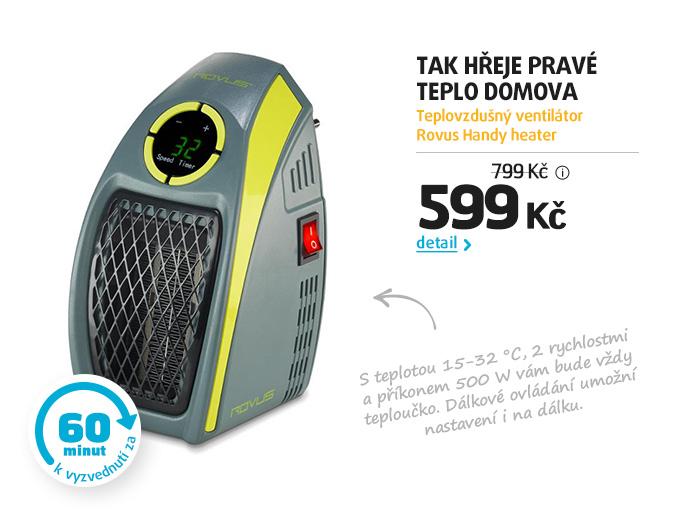 Teplovzdušný ventilátor Rovus Handy heater