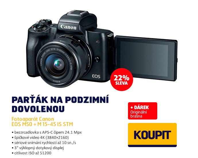 Fotoaparát Canon EOS M50 + M 15-45 IS STM