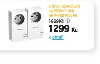 Síťový rozvod LAN po 230V D-Link DHP-P601AV/FR