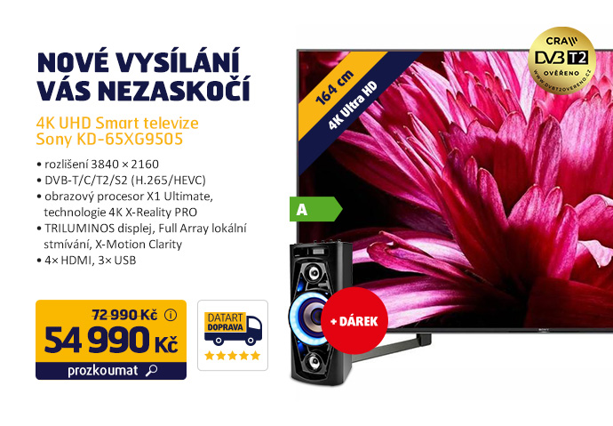 4K UHD Smart televize Sony KD-65XG9505