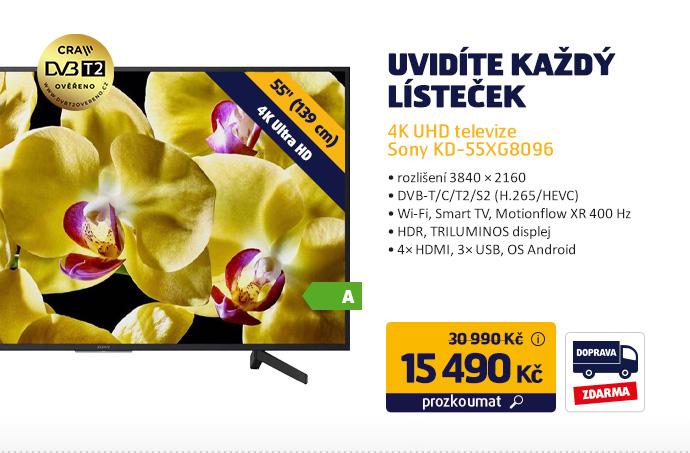 4K UHD televize Sony KD-55XG8096
