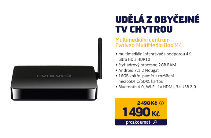 Multimediální centrum Evolveo MultiMedia Box M4