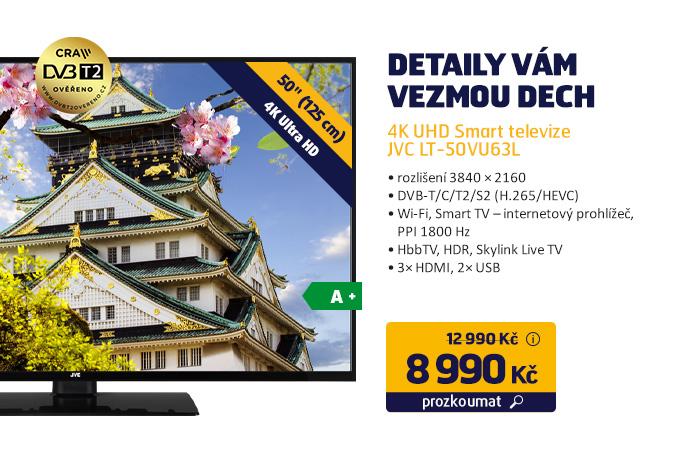 4K UHD Smart televize JVC LT-50VU63L
