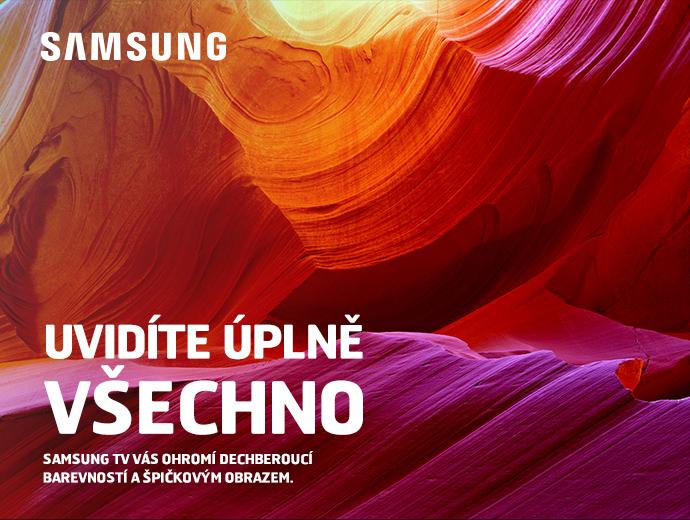 Samsung TV vás ohromí dechberoucí barevností a špičkovým obrazem.