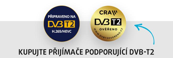 KUPUJTE PŘIJÍMAČE PODPORUJÍCÍ DVB-T2