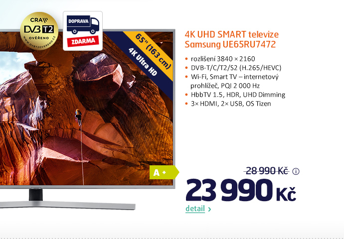 4K UHD Smart televize Samsung UE65RU7472