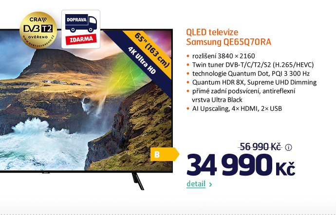 QLED televize Samsung QE65Q70RA