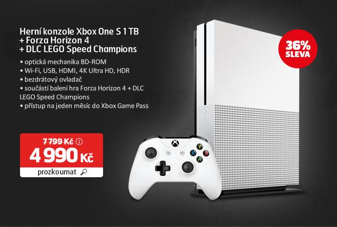 Herní konzole Xbox One S 1 TB + Forza Horizon 4 + DLC LEGO Speed Champions