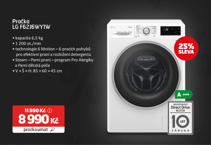 Pračka LG F62J6WY1W