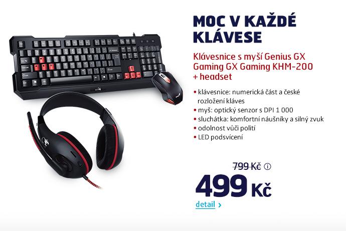 Klávesnice s myší Genius GX Gaming GX Gaming KHM-200 + headset
