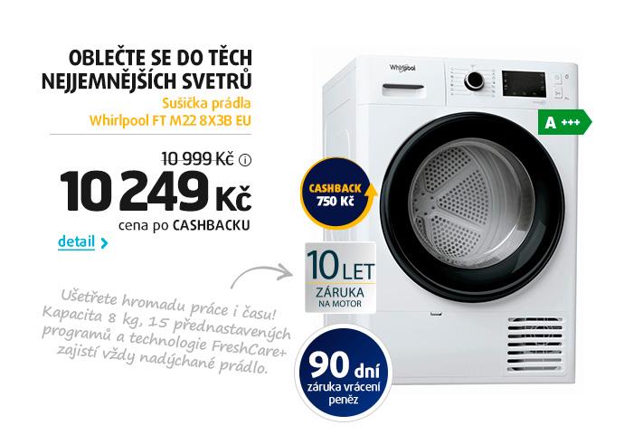 Sušička prádla Whirlpool FT M22 8X3B EU
