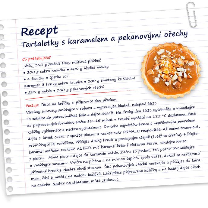 Recept na tartaletky s karamelem a pekanovými ořechy