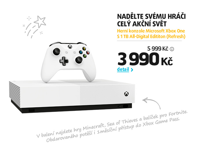 Herní konzole Microsoft Xbox One S 1 TB All-Digital Edititon (Refresh)