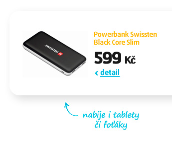 Powerbank Swissten Black Core Slim