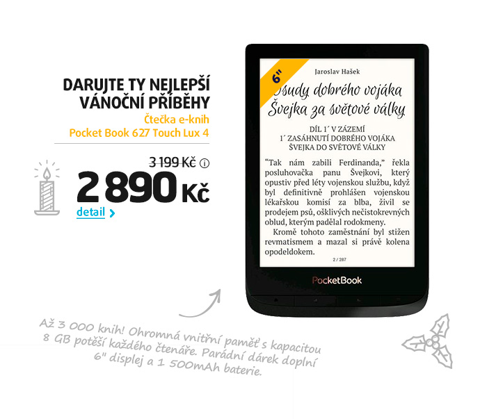 Čtečka e-knih Pocket Book 627 Touch Lux 4