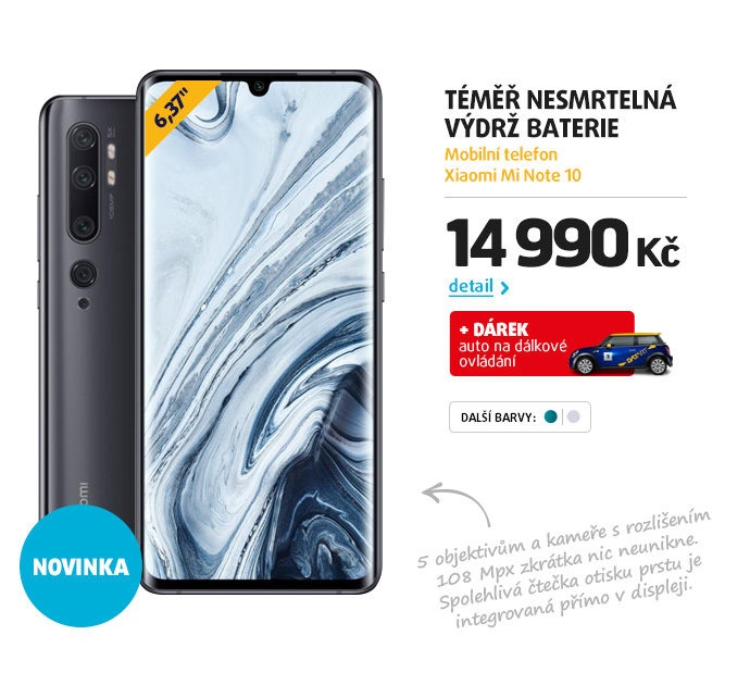 Mobilní telefon Xiaomi Mi Note 10
