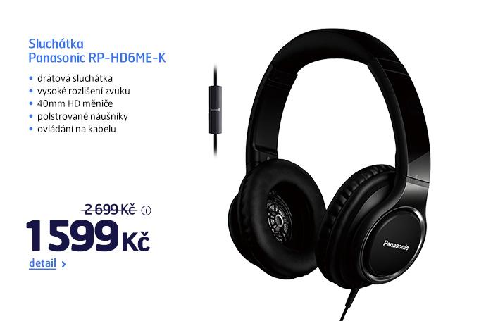 Sluchátka Panasonic RP-HD6ME-K