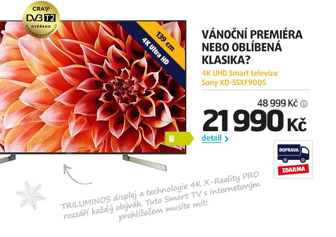 4K UHD Smart televize Sony KD-55XF9005