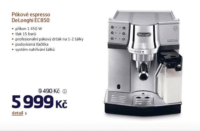 Pákové espresso DeLonghi EC850