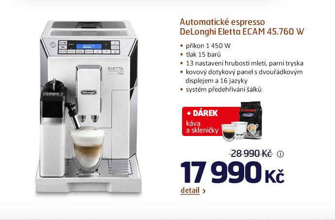 Automatické espresso DeLonghi Eletta ECAM 45.760 W