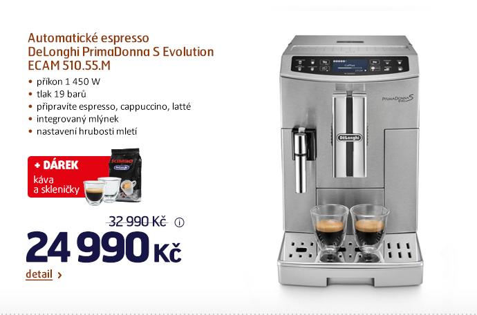 Automatické espresso DeLonghi PrimaDonna S Evolution ECAM 510.55.M