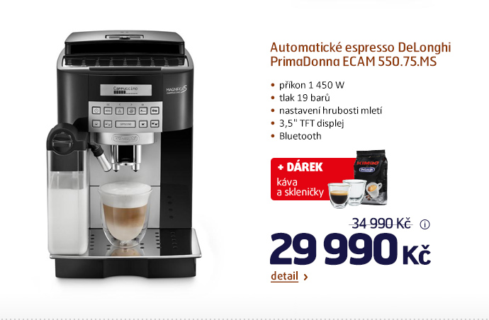 Automatické espresso DeLonghi PrimaDonna ECAM 550.75.MS