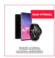 MAXI Výprodej: Mobilní telefony, nositelná elektronika