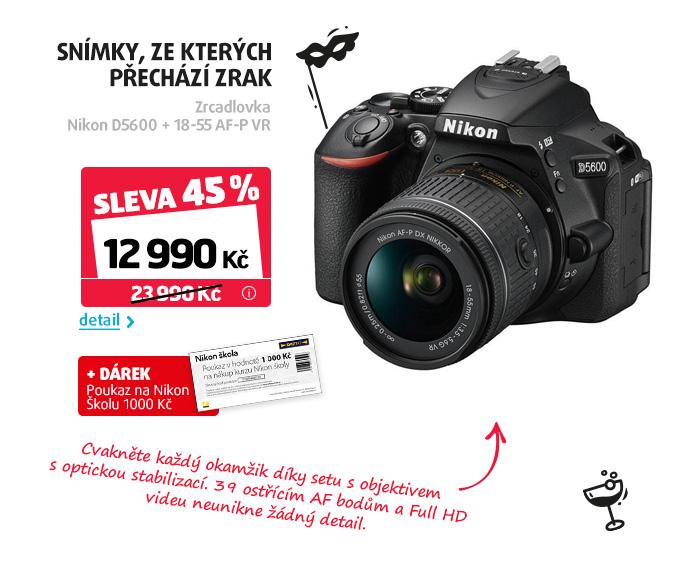 Zrcadlovka Nikon D5600 + 18-55 AF-P VR