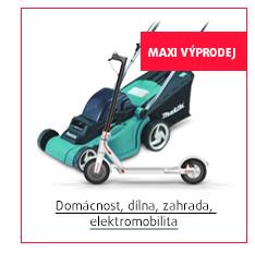 MAXI Výprodej: Domácnost, dílna, zahrada, elektromobilita