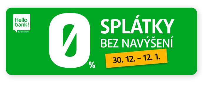SPLÁTKY 0 % 10M HELLO BANK