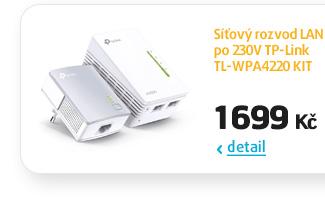 Síťový rozvod LAN po 230V TP-Link TL-WPA4220 KIT