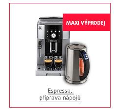 MAXI Výprodej: Espressa, příprava nápojů
