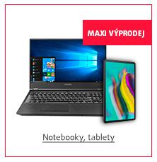 MAXI Výprodej: Notebooky, tablety