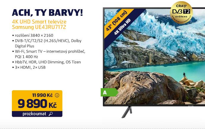 4K UHD Smart televize Samsung UE43RU7172