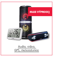 MAXI Výprodej: Audio, video, GPS, meteostanice