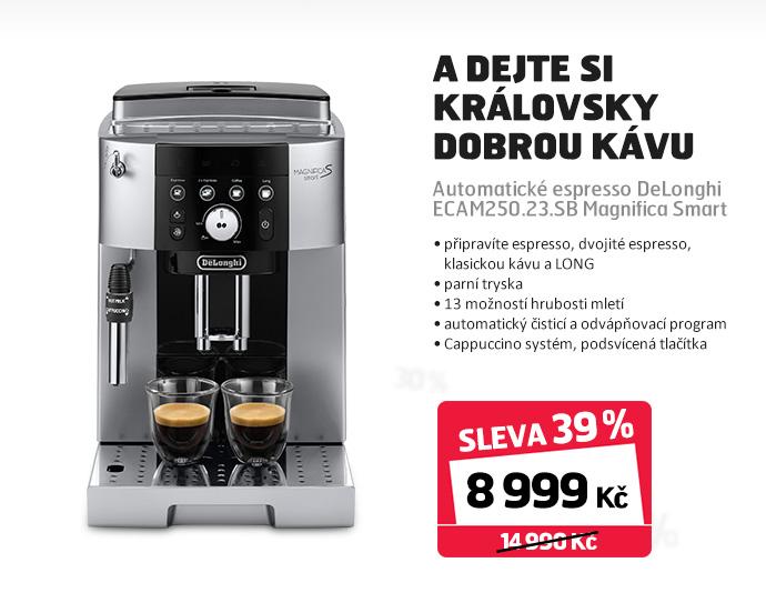 Automatické espresso DeLonghi ECAM250.23.SB Magnifica Smart