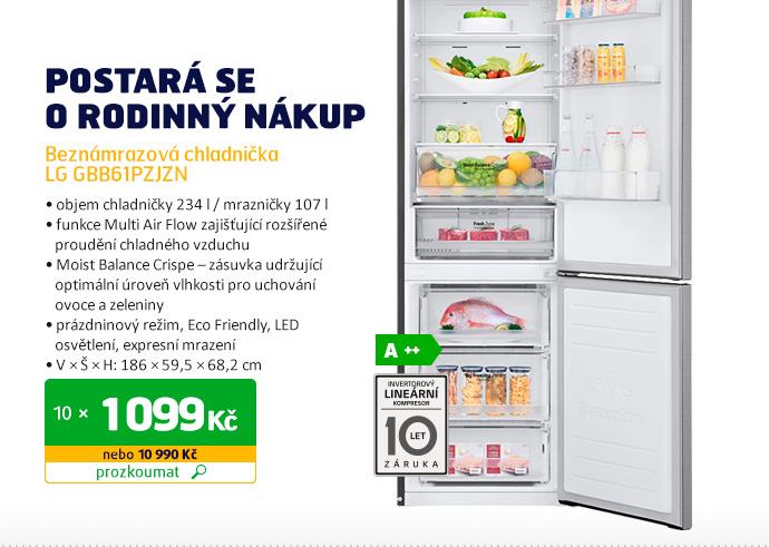 Beznámrazová chladnička LG GBB61PZJZN
