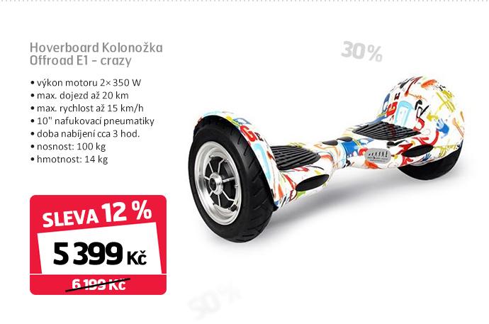 Hoverboard Kolonožka Offroad E1 - crazy