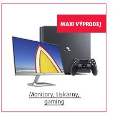 MAXI Výprodej: Monitory, tiskárny, gaming