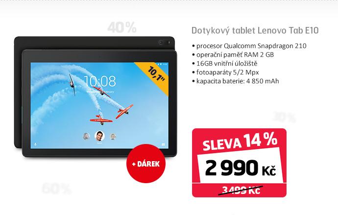 Dotykový tablet Lenovo Tab E10