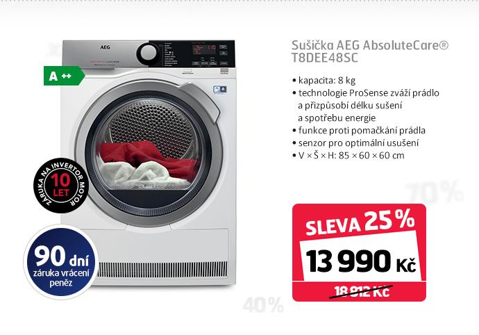 Sušička AEG AbsoluteCare® T8DEE48SC