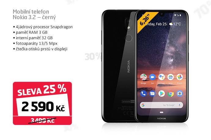 Mobilní telefon Nokia 3.2 - černý