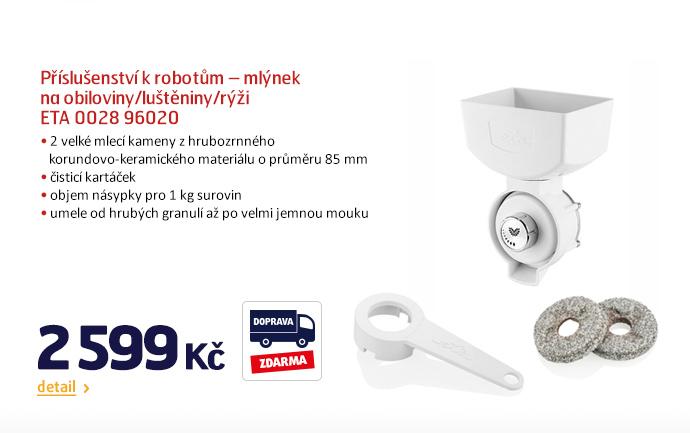 Příslušenství k robotům – mlýnek na obiloviny/luštěniny/rýži ETA 0028 96020