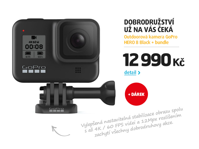 Outdoorová kamera GoPro HERO 8 Black + bundle