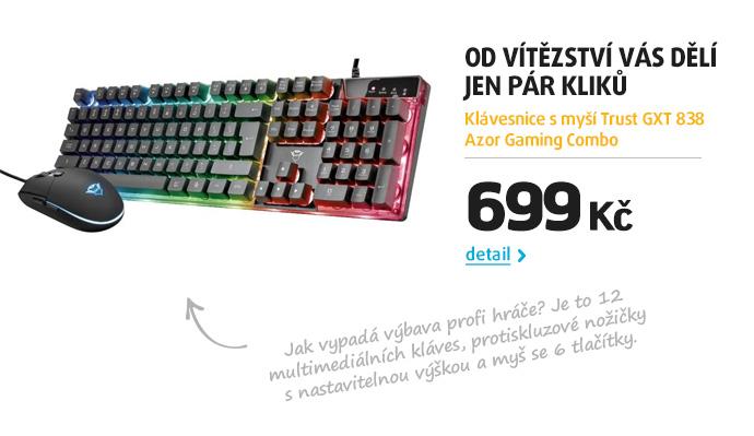 Klávesnice s myší Trust GXT 838 Azor Gaming Combo