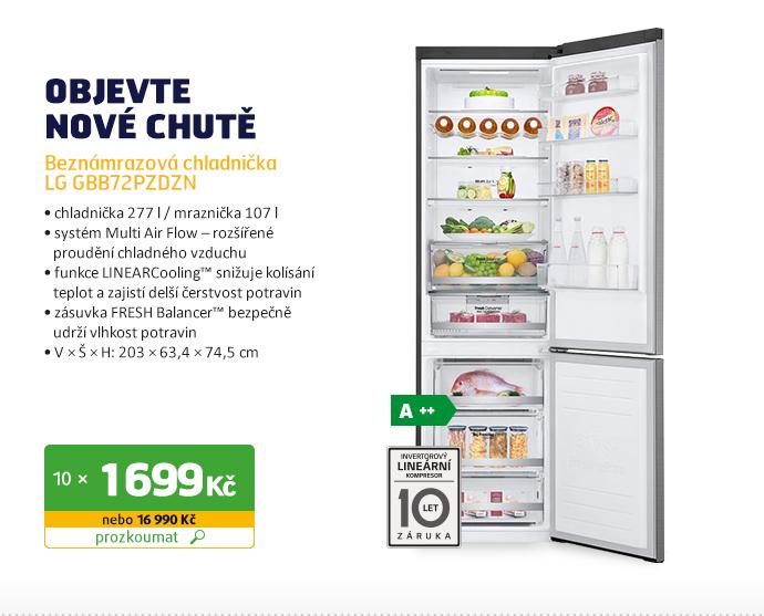 Beznámrazová chladnička LG GBB72PZDZN
