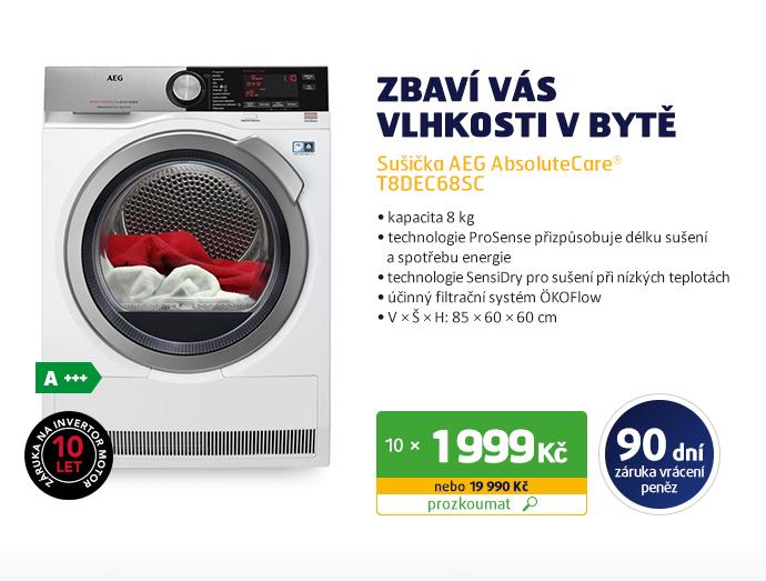 Sušička AEG AbsoluteCare® T8DEC68SC