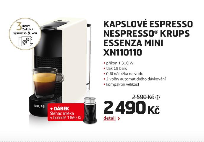 Kapslové espresso Nespresso® Krups  Essenza mini XN110110
