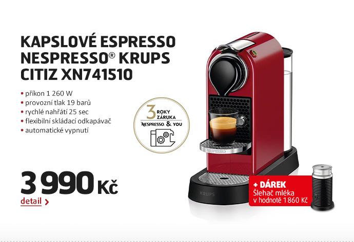 Kapslové espresso Nespresso® Krups  Citiz XN741510