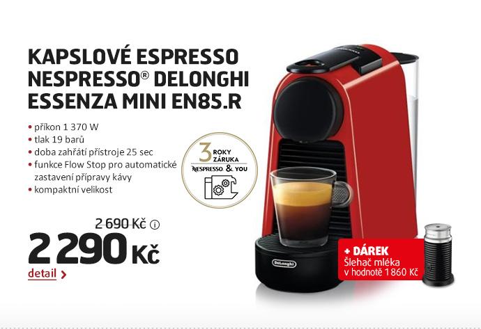 Kapslové espresso Nespresso® DeLonghi  Essenza Mini EN85.R